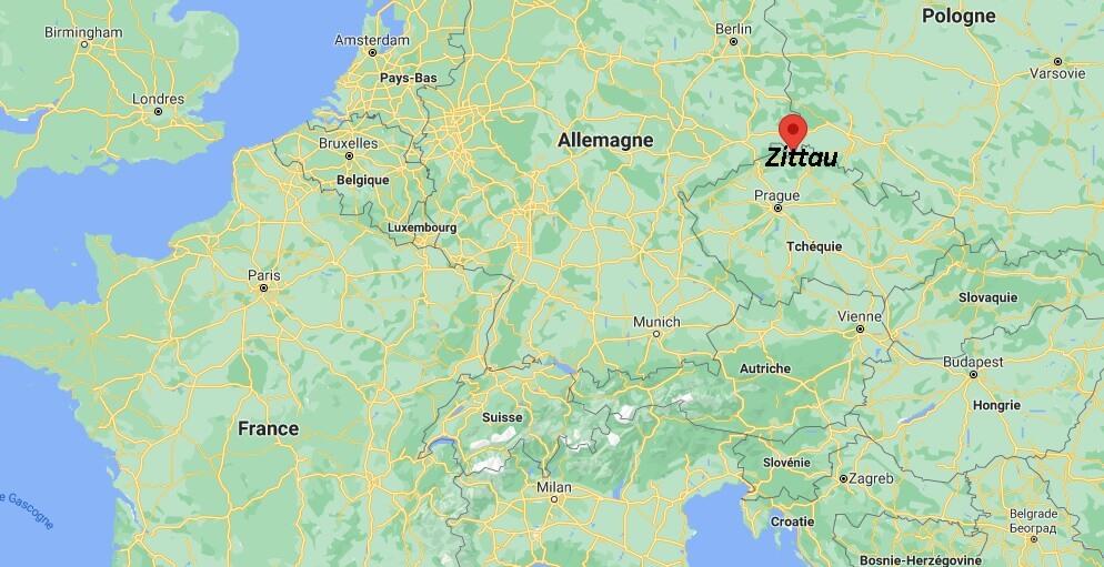 Où se trouve Zittau