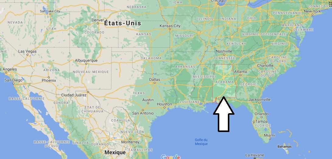 Où se trouve la Alabama