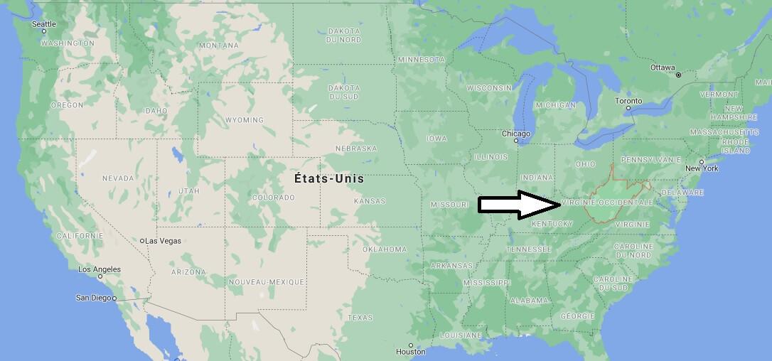 Où se trouve la West Virginia