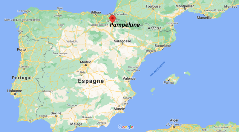 Où se trouve la ville de Pampelune