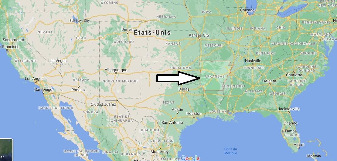 Où se trouve le Arkansas