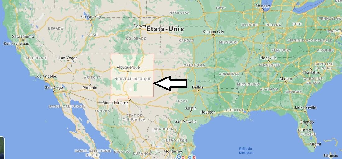Où se trouve le Nouveau-Mexique