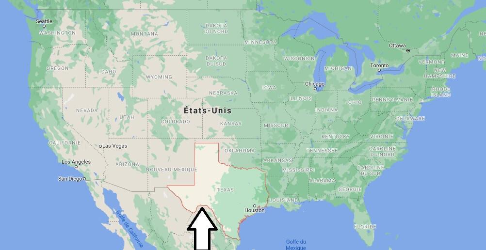 Où se trouve le Texas