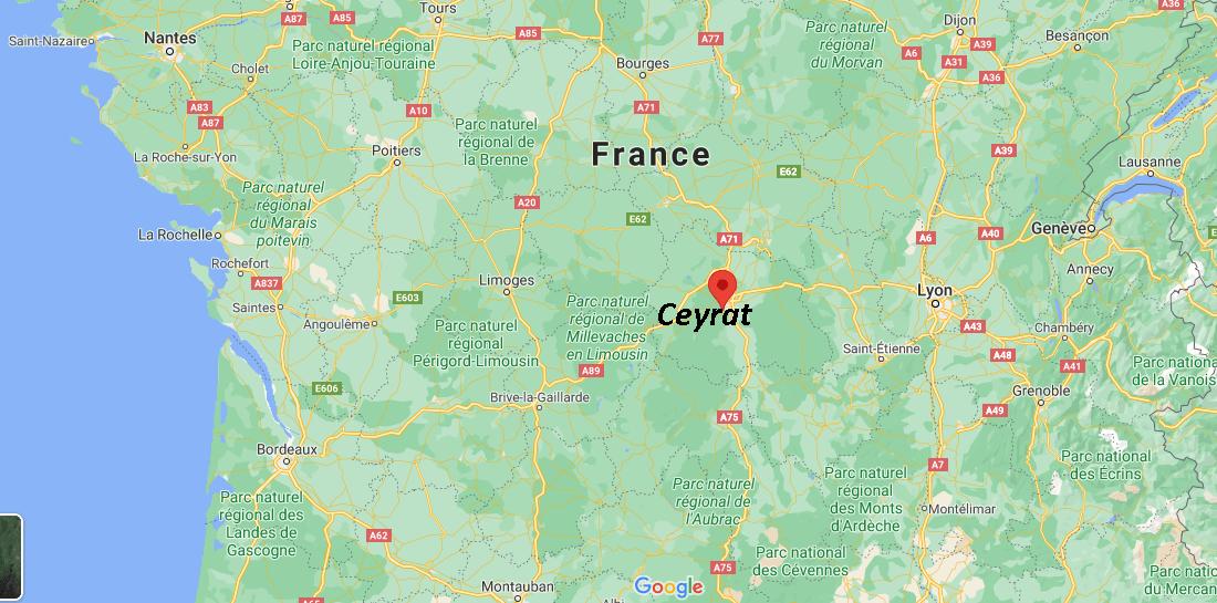 Dans quelle région se trouve Ceyrat