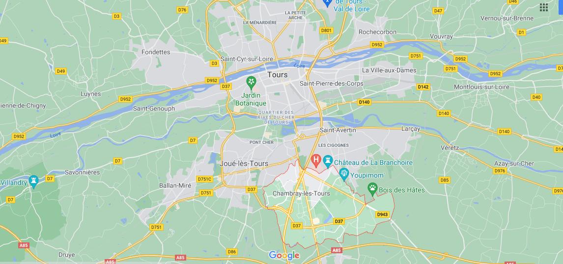 Dans quelle région se trouve Chambray-lès-Tours