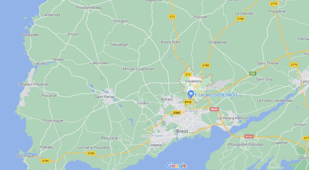 Dans quelle région se trouve Gouesnou