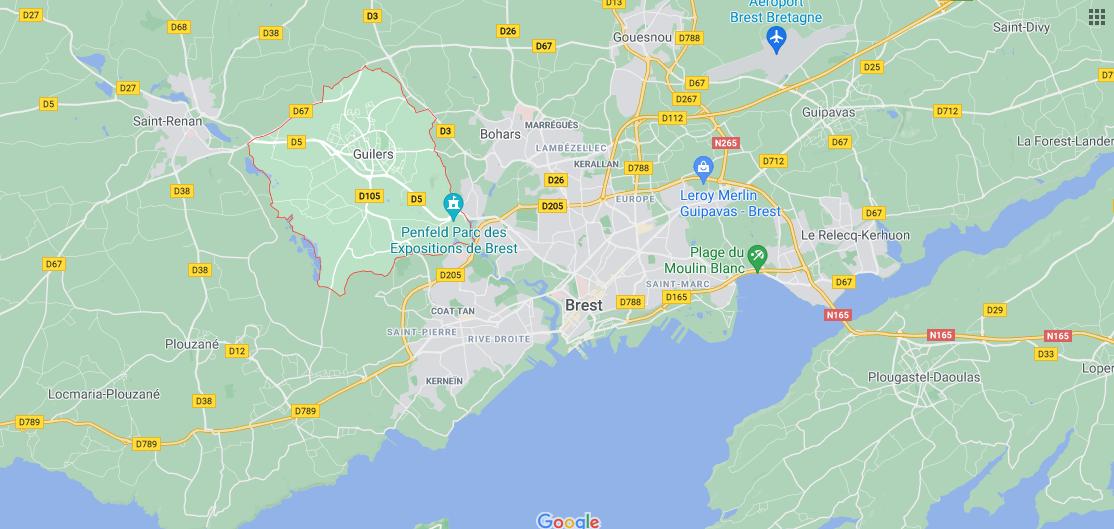 Dans quelle région se trouve Guilers