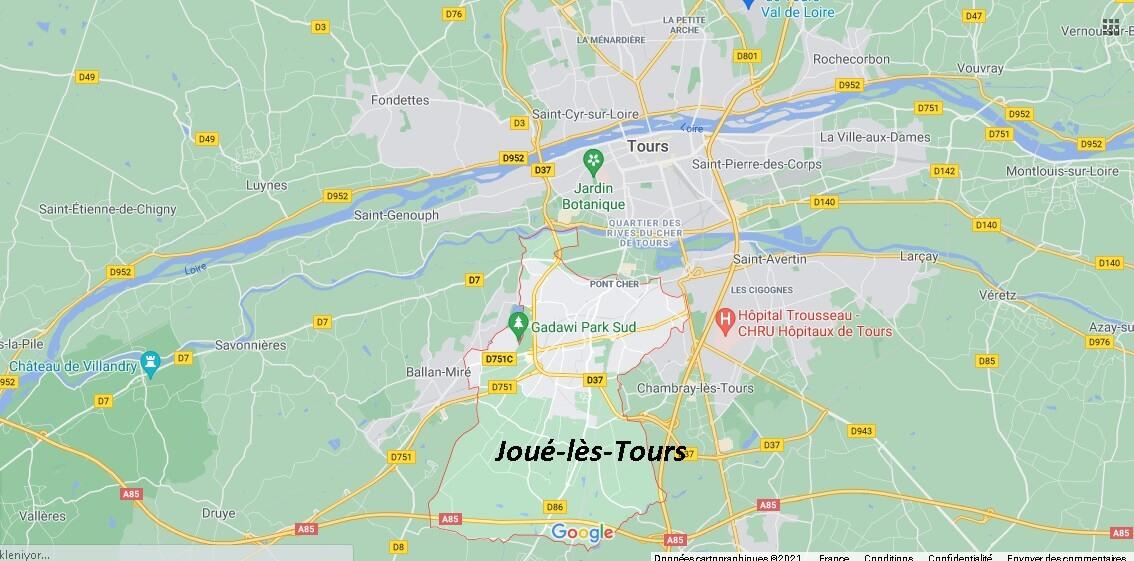 Dans quelle région se trouve Joué-lès-Tours