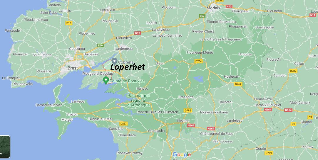 Dans quelle région se trouve Loperhet
