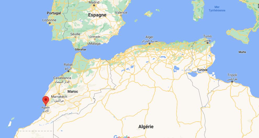 Où se situe Agadir