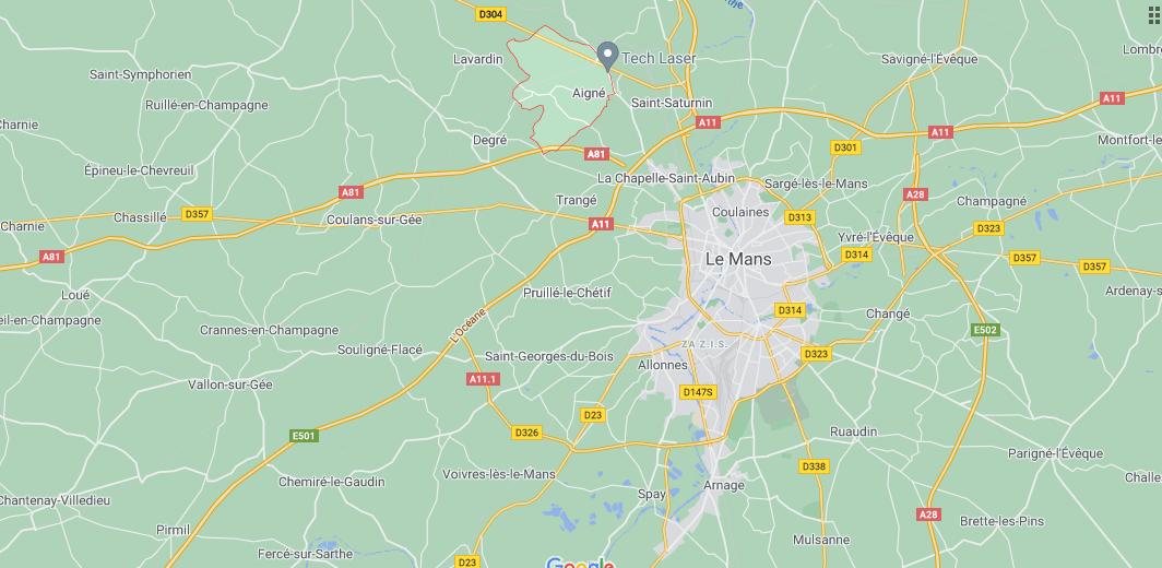 Où se situe Aigné (72650)