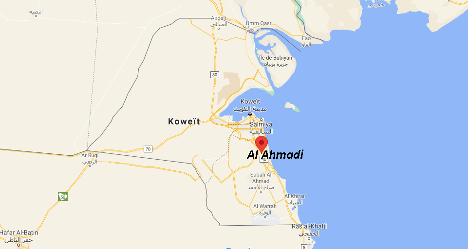 Où se situe Al Ahmadi