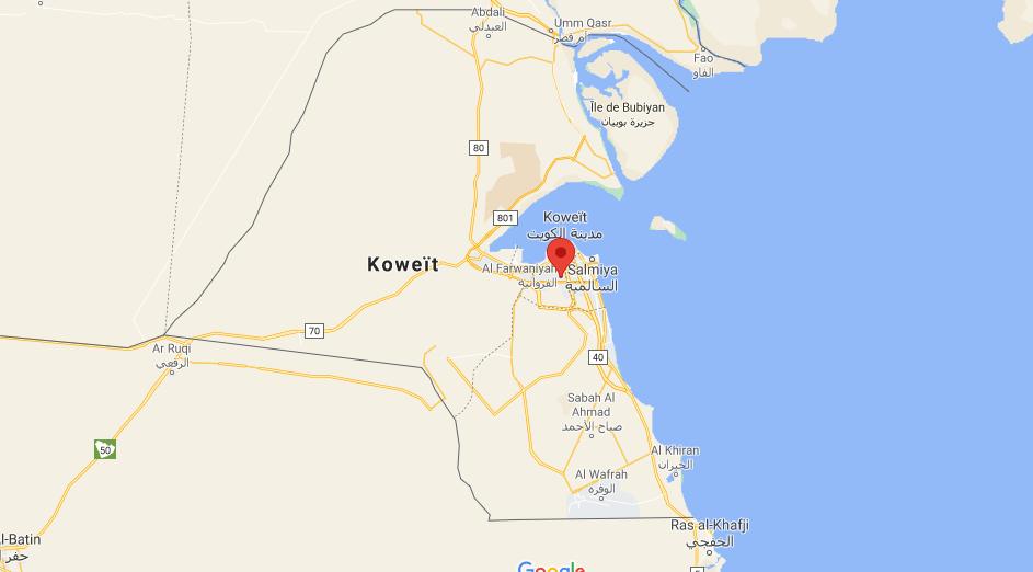 Où se situe Al Farwaniyah