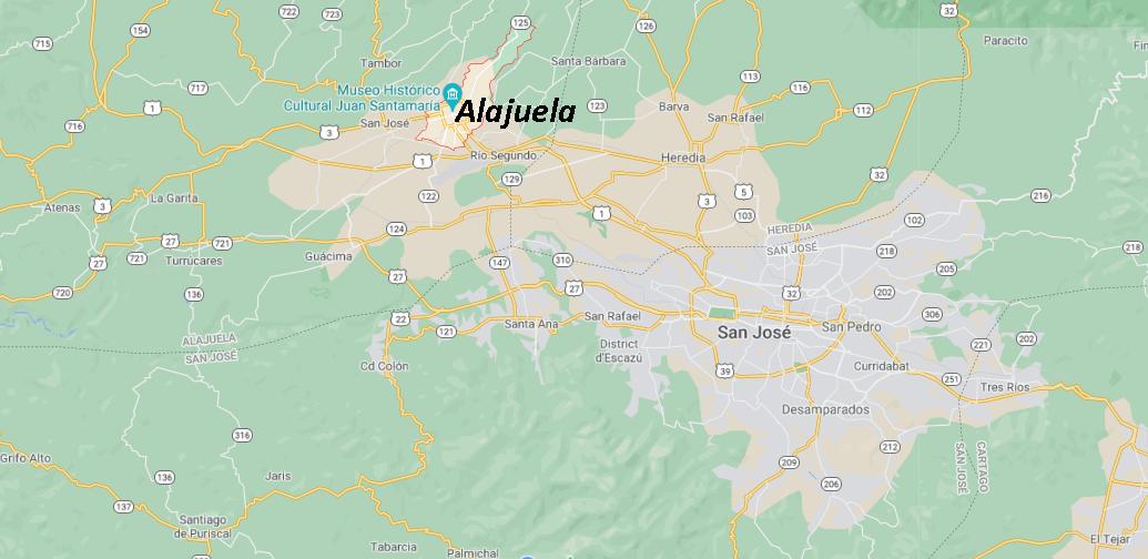 Où se situe Alajuela