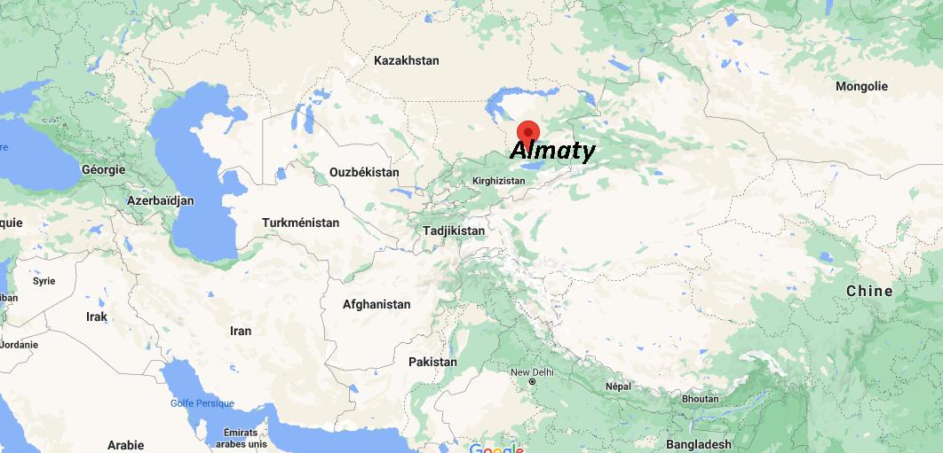 Où se situe Almaty