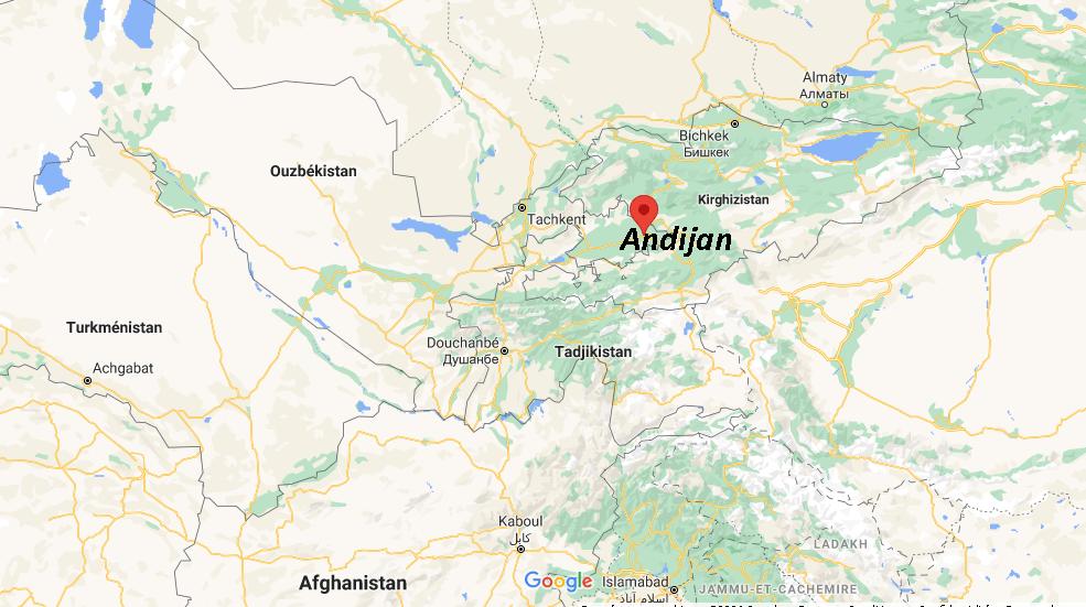 Où se situe Andijan