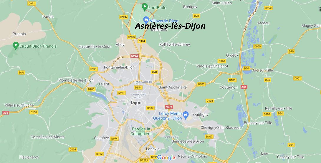 Où se situe Asnières-lès-Dijon (21380)