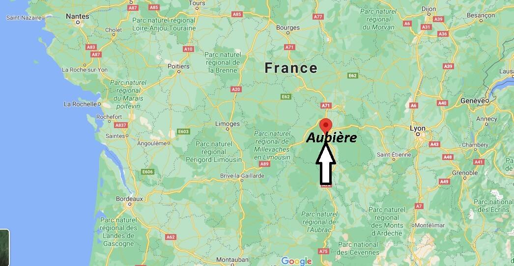 Où se situe Aubière (Code postal 63170)