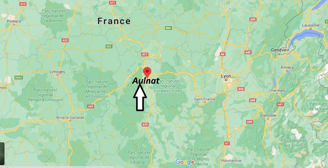 Où se situe Aulnat (Code postal 63510)