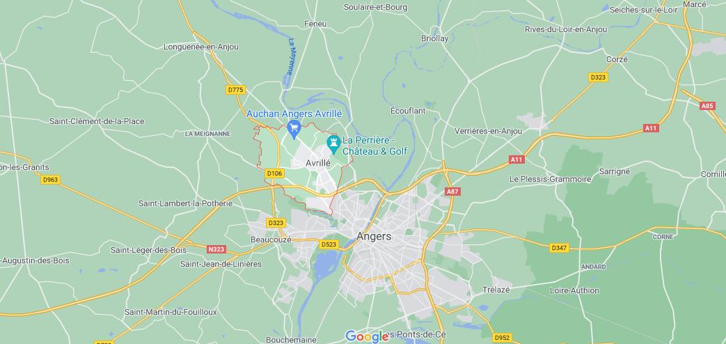 Où se situe Avrillé (49240)
