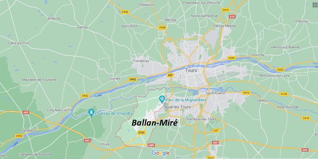 Où se situe Ballan-Miré (Code postal 37510)
