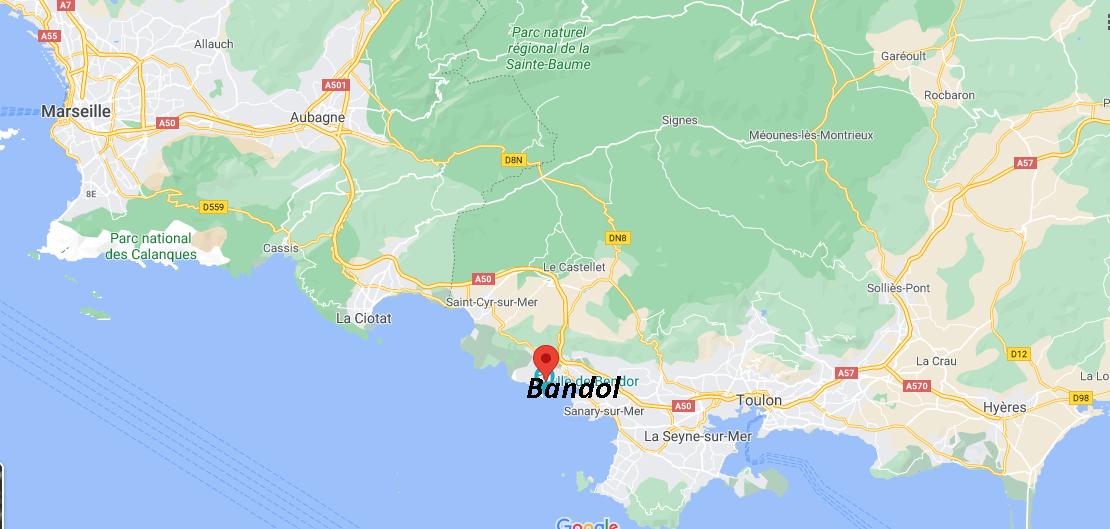 Où se situe Bandol (Code postal 83150)