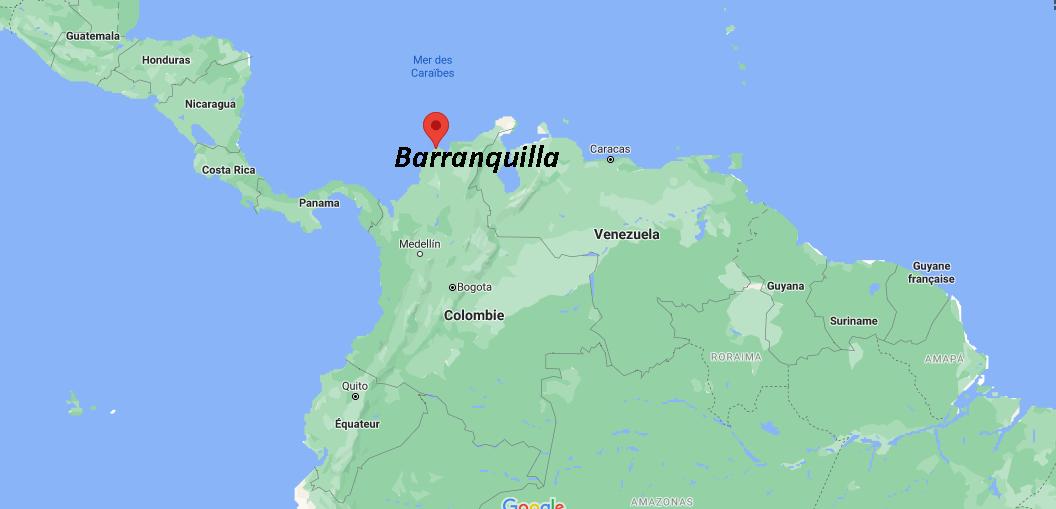 Où se situe Barranquilla