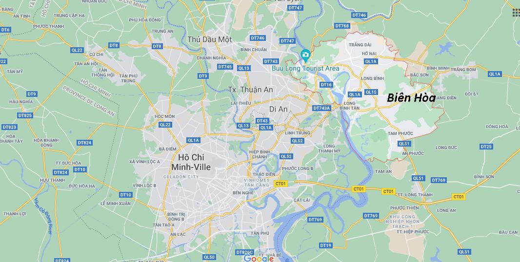 Où se situe Biên Hòa