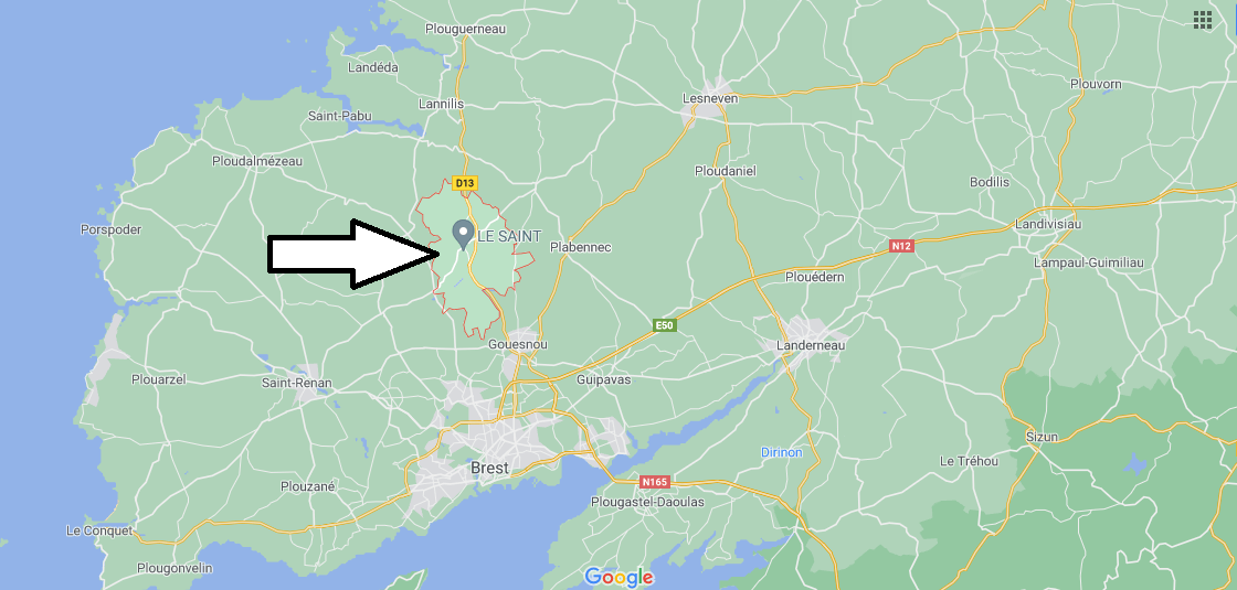 Où se situe Bourg-Blanc (29860)