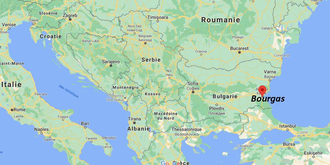 Où se situe Bourgas