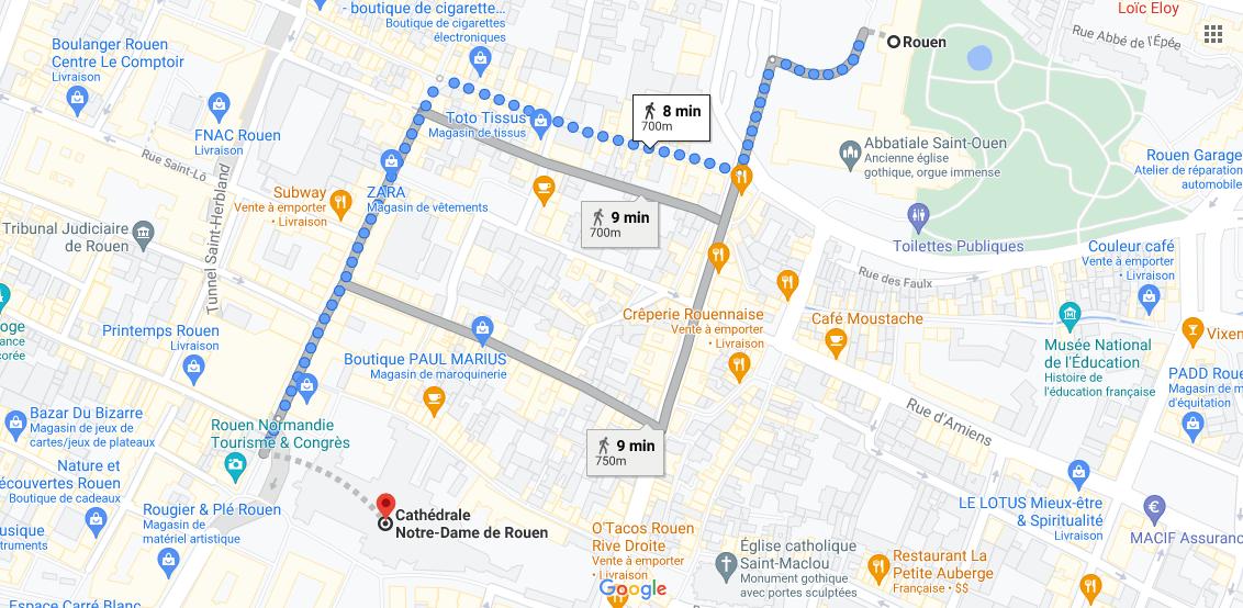Où se situe Cathédrale Notre-Dame de Rouen