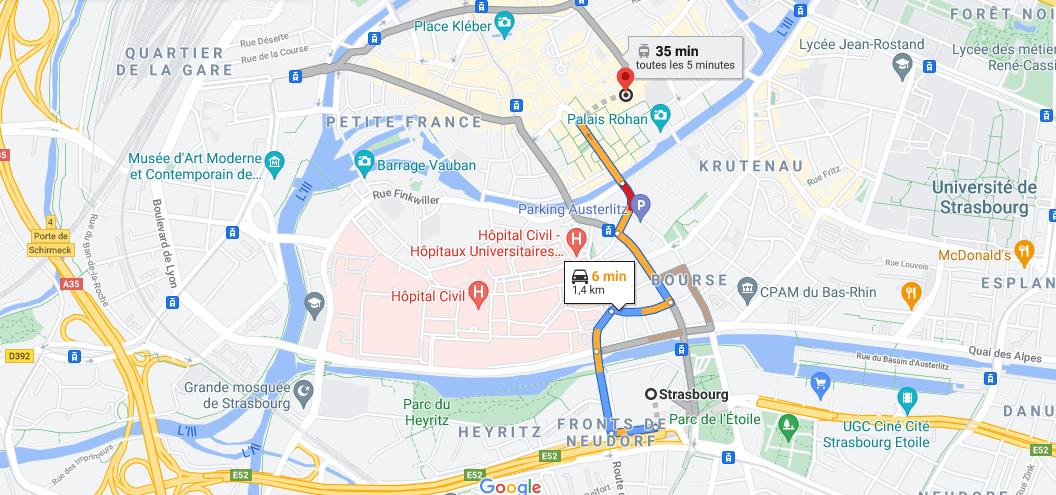 Où se situe Cathédrale Notre Dame de Strasbourg