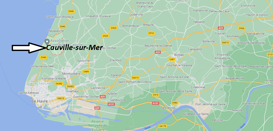Où se situe Cauville-sur-Mer (76930)