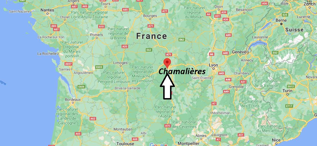 Où se situe Chamalières (Code postal 63400)