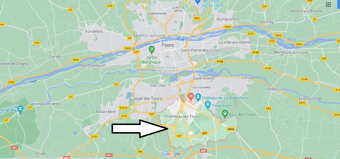 Où se situe Chambray-lès-Tours (Code postal 37170)