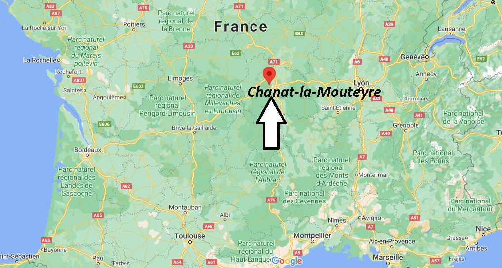Où se situe Chanat-la-Mouteyre (Code postal 63530)