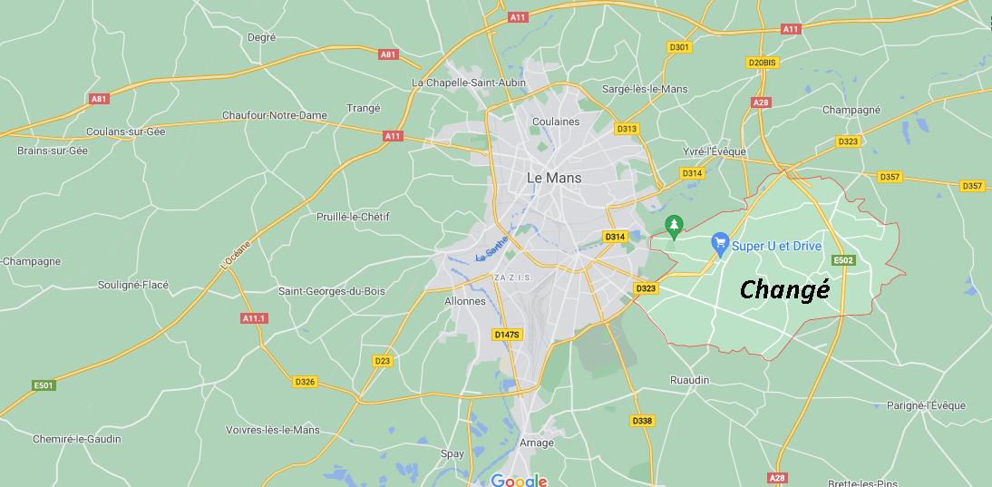 Où se situe Changé (72560)