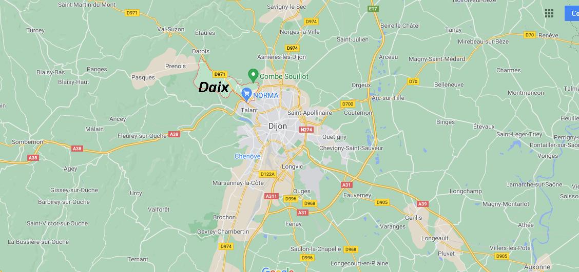 Où se situe Daix (21121)