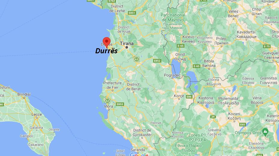 Où se situe Durrës