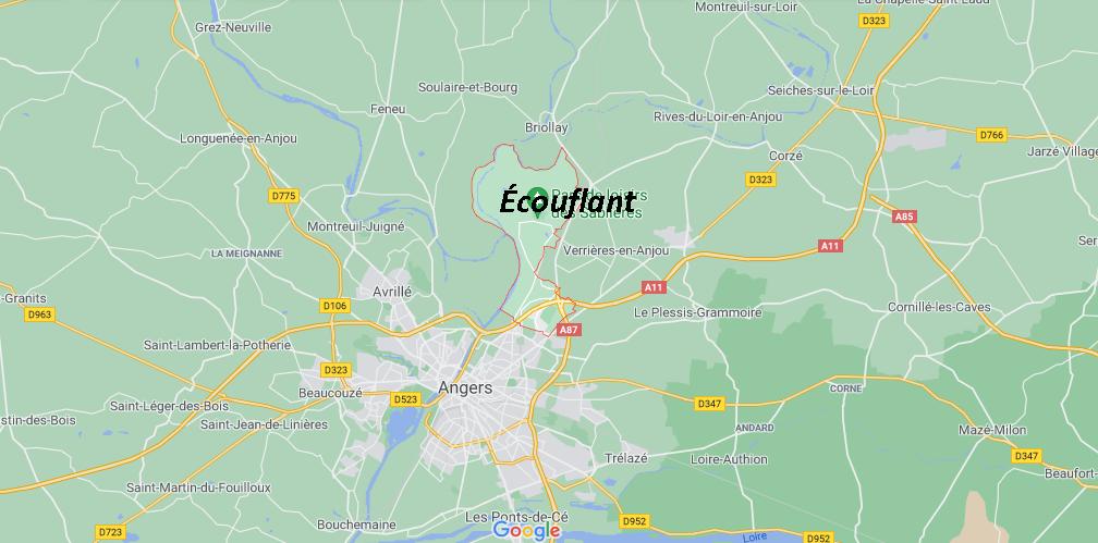 Où se situe Écouflant (49000)