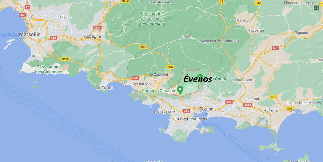 Où se situe Évenos (Code postal 83330)