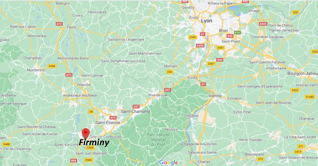 Où se situe Firminy (42095)