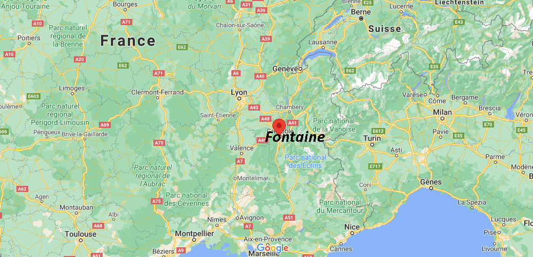 Où se situe Fontaine (38600)