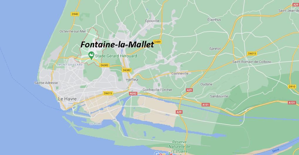 Où se situe Fontaine-la-Mallet