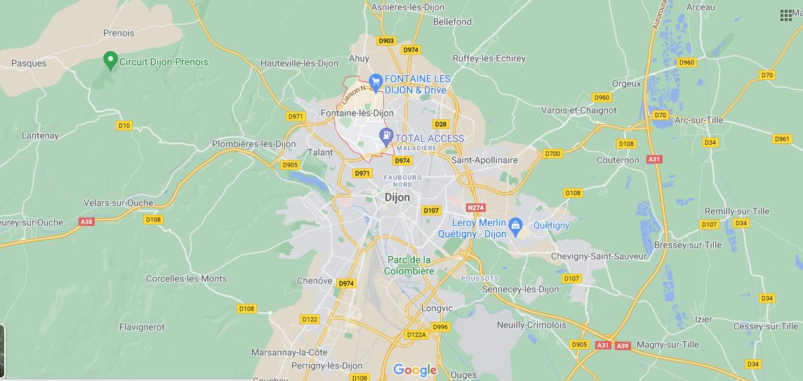 Où se situe Fontaine-lès-Dijon (21121)