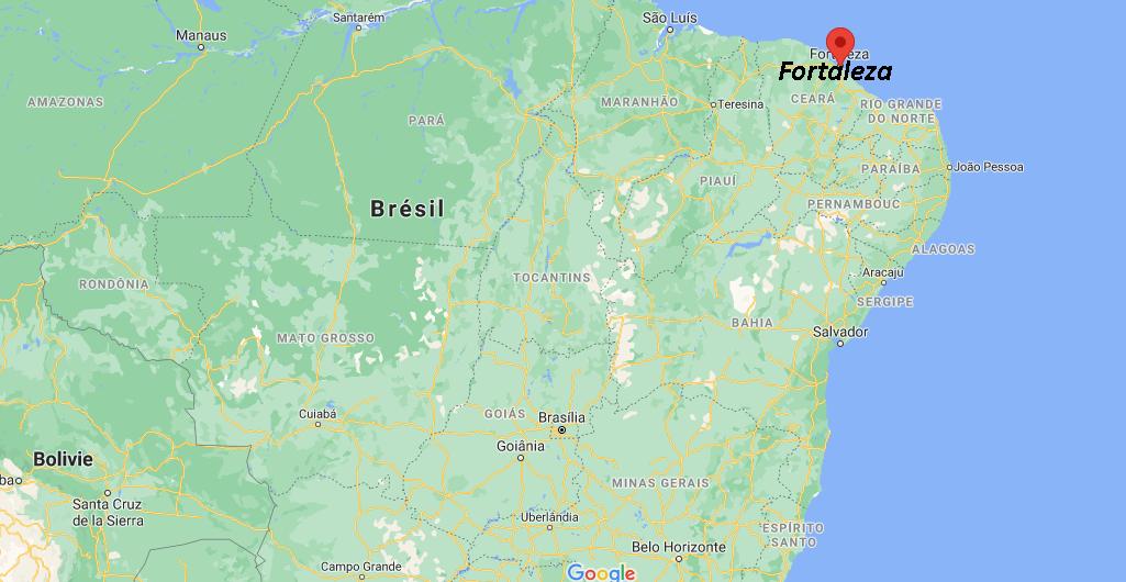 Où se situe Fortaleza