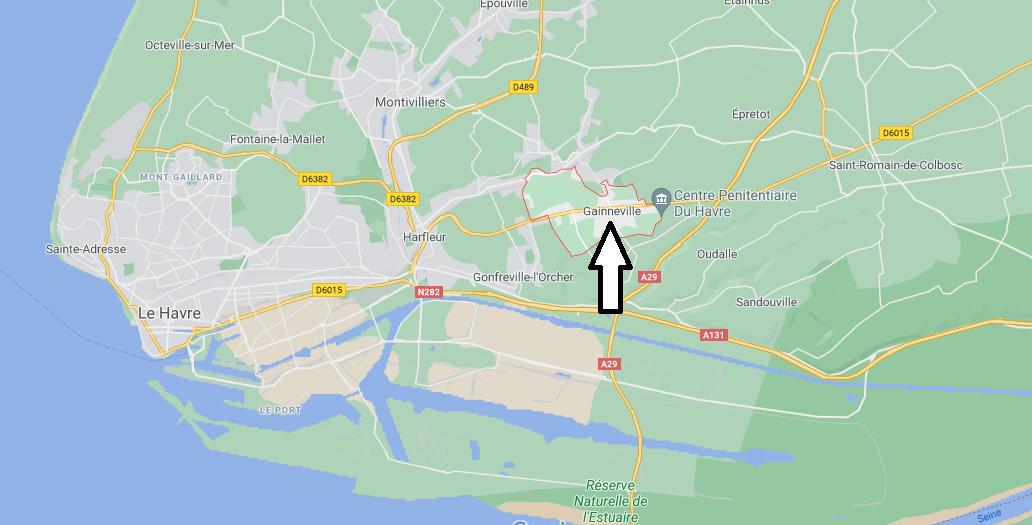 Où se situe Gainneville (76700)