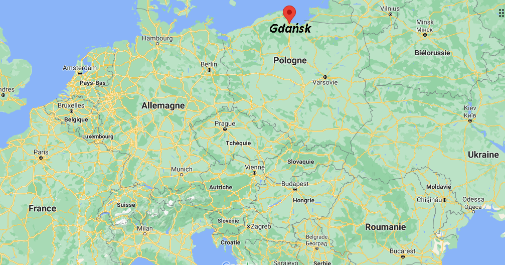 Où se situe Gdańsk