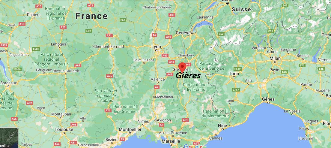 Où se situe Gières (38179)