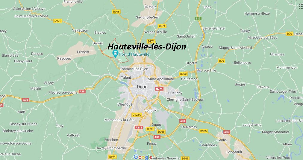 Où se situe Hauteville-lès-Dijon (21121)